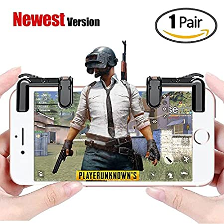 Mobile Game Controller(Newest Version), FengNiao Sensitive Shoot and Aim Buttons L1R1 for PUBG/Knives Out/Rules of Survival, PUBG Mobile Game Joystick, Cell Phone Game Controller for Android IOS1 Pair