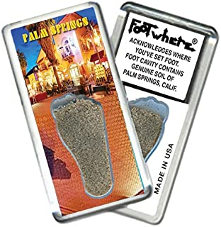 """product image for Palm Springs""""FootWhere"""" Souvenir Fridge Magnet. Made in USA (PS206 - NightCap)"""