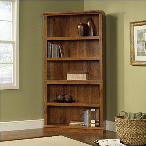 Five Shelf Bookcase in Abbey Oak Finish