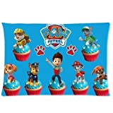 Generic Custom Zippered Rectangle Pillow Case TV Paw Patrol Pattern Design Standard Size 20x30 (Twin Sides)