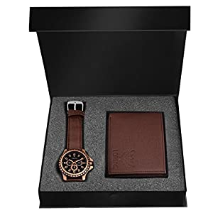 LORENZ Brown Watch and Wallet Combo for Men 1