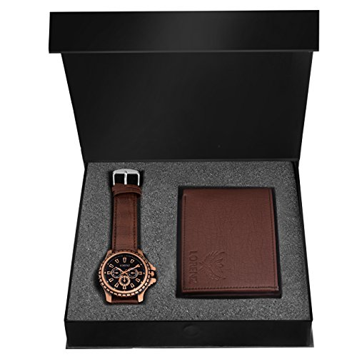 LORENZ Brown Watch and Wallet Combo for Men 2
