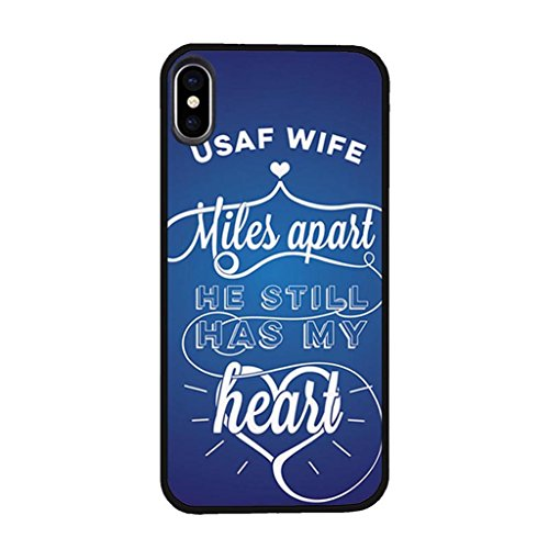 Men's Case Compatible iPhone X/XS, Angvander Unique USAF Air Force Wife Pattern Protective Case Compatible iPhone X/XS, Anti Dust Drop Proof Elegant Design Hard Case Compatible iPhone X/XS -