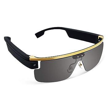 c71f73bc26 YRRC Gafas Inteligentes, HD Deportes al Aire Libre Gafas de Voz cámara de  Video Cámara de vídeo Bluetooth WiFi teléfono móvil en Vivo Gafas  Inteligentes ...