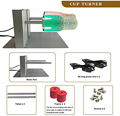 Electric Cuptisserie Cup Spinner Machine for Drying Epoxy Resin CW /& CCW Supported Rotisserie Motor Rotator to Making Glitter Epoxy Resin Tumblers Dual Cup Turner for Crafts Tumbler