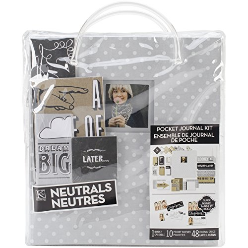 (K&Company Pocket Journal and Scrapbook Kit, 8.5 by 11-Inch, Gray Dots)