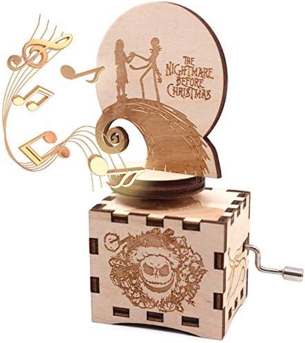 ukebobo Wooden Music Box - The Nightmare Before Christmas Music Box – 1 Set