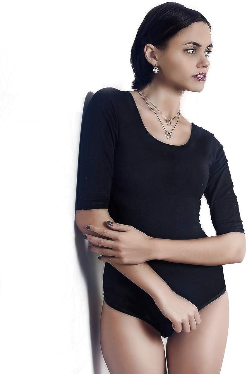 miorre Dos Nu Body Femme Modal Manches Courtes