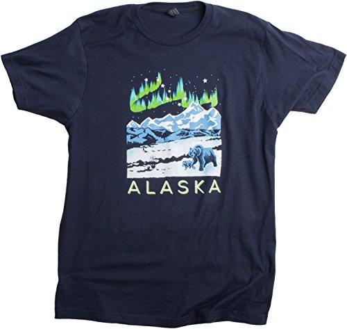 Alaskan Wilderness | Last Frontier Alaska Northern Lights Bear Unisex T-shirt