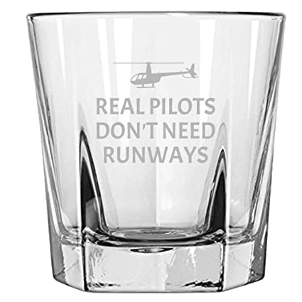 Funny Helicopter Pilot Gift - Helicopter Gift Idea - Real Pilots Don't Need Runways