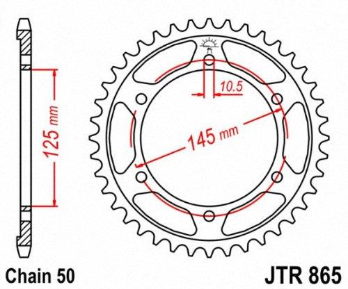 JT Sprockets JTA865.44 44T Aluminum Rear Sprocket