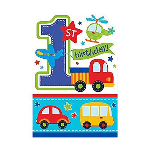 All Aboard Party Supplies Birthday Invitations(8)