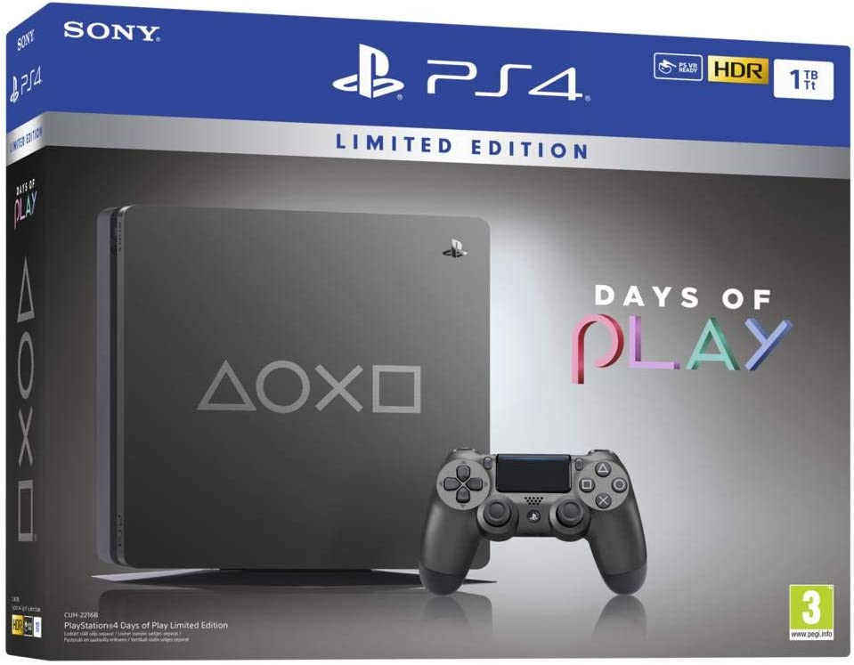 PS4 SLIM 1 To - Edition Spéciale Days of Play [Importación ...