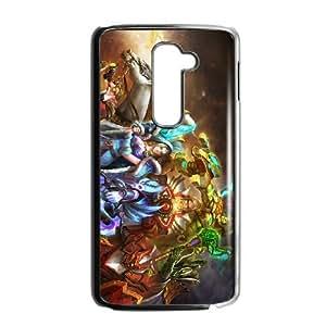 LG G2 Black phone case All Heroes Dota 2 DOT7118241