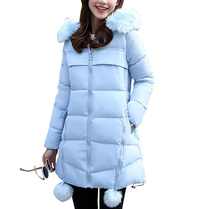 0cf18d1f03e Leoie Winter Jackets for Women Girls Long XXL Thickened Down Jackets Parka Plus  Size Women Warm Cotton Padded Jacket Fashionable Winter Plush Collar Slim  ...