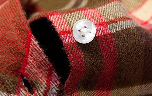 15 fille Avec Shirt Étudiante 17 Couleurs Boutons Carreaux Manche Chemisier Casuel Coton Longue Femme Blouse Acvip Zn4STqxwA
