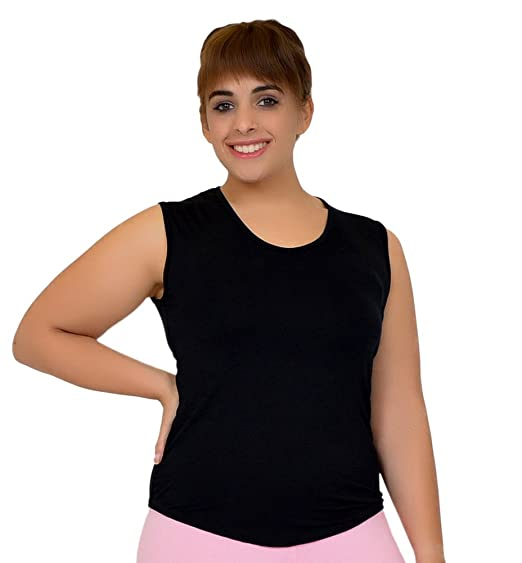 d087fc4ef04 Stretch is Comfort Women s Plus Size Modal Scoop Neck Tank Top Black X-Large