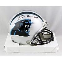 $85 » Derrick Brown Autographed Carolina Panthers Mini Helmet - JSA W Auth Black