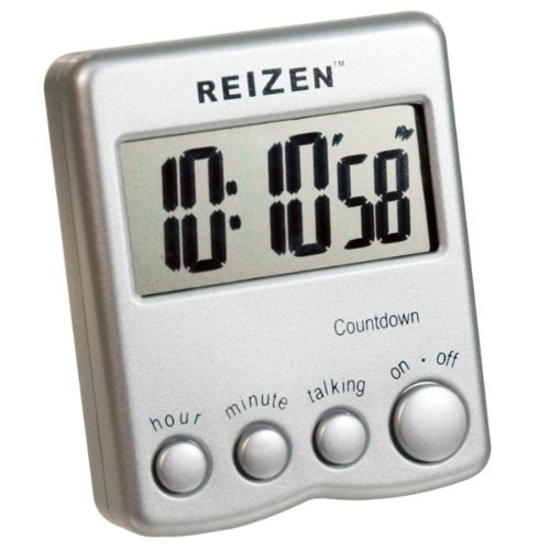 Talking Low Vision Count Down Timer - Silver by Reizen