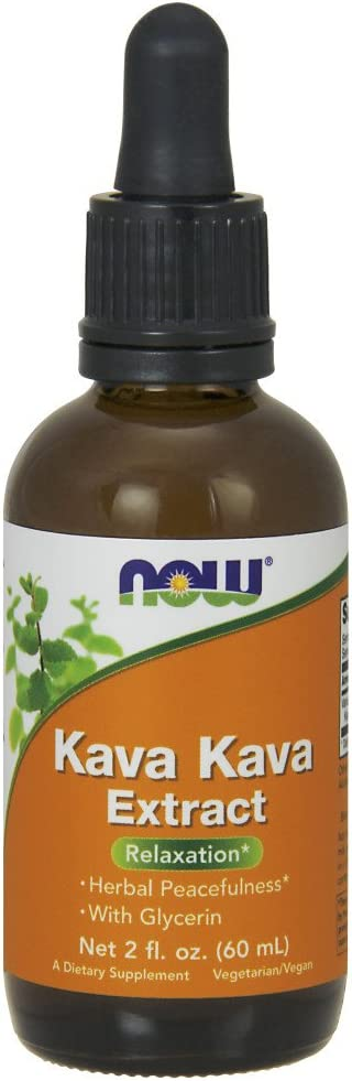 NOW Supplements, Kava Kava Liquid Extract with Glycerin, Dropper Included, Relaxation*, 2-Ounce