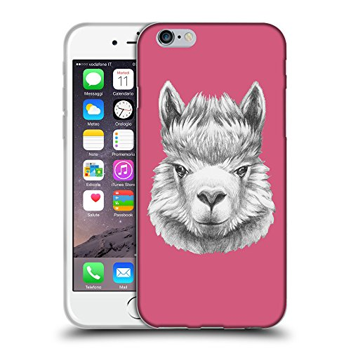 GoGoMobile Coque de Protection TPU Silicone Case pour // Q05380614 Portrait lama Rougir // Apple iPhone 6 PLUS 5.5""