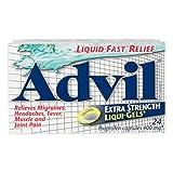 Advil Extra Strength Liqui-Gels, Pain reliever / Fever reducer, 24 Ibuprofen capsules 400mg