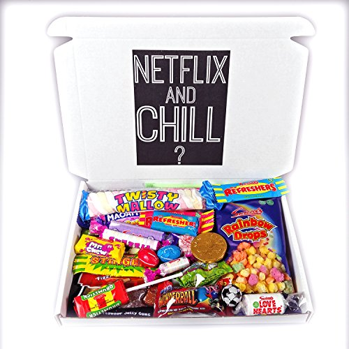 The Netflix And Chill 30 Piece Retro Candy Box! - By Moreton Gifts