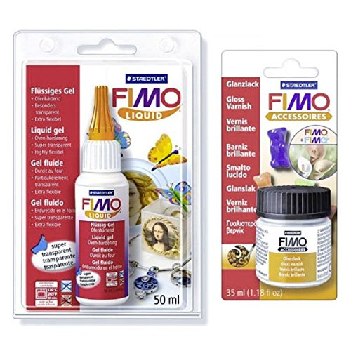 Staedtler FIMO Soft Liquid 50 ml + Gloss Varnish 10 ml
