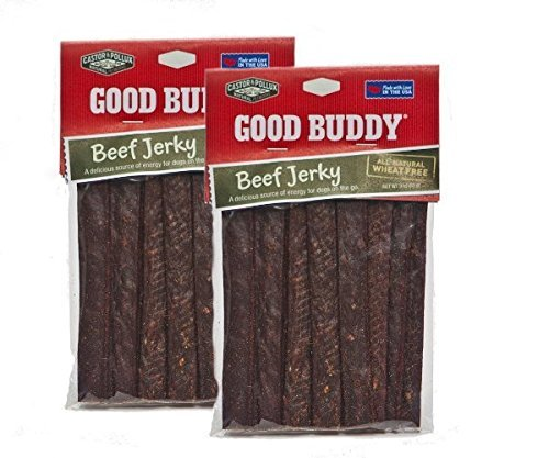 Castor & Pollux Good Buddy All Natural Beef Jerky Dog Treats - 3 Oz (2 Pack)