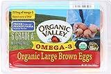 ORGANIC VALLEY: Omega 3 Large Brown Eggs, 0.5 Dozen