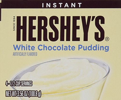 Hershey's White Chocolate Instant Pudding (4 Boxes) - Instant Chocolate Pudding