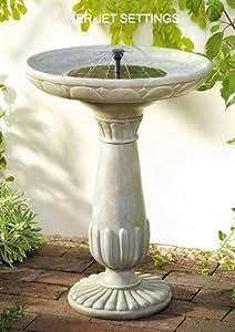 Ba o de agua para p jaros con funci n solar funci n solar - Fuente solar jardin ...