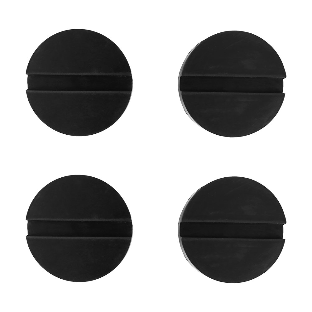 4pcs Universal Rubber Jack Pad Slotted Frame Rail Protector 62 × 24mm Walfront