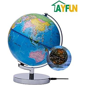 Amazoncom Educational World Globe For Kids With LED Light - Map globe of the world