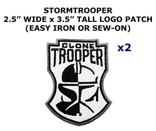 Diy Costume Star Stormtrooper Wars (2 PCS Stormtrooper Clone Star Wars Theme DIY Iron / Sew-on Decorative Applique)
