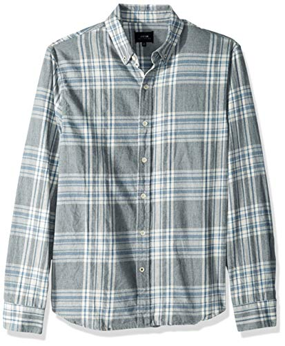 Joe's Jeans Men's Jimmy L/s Twill Woven, Blue/Grey, (L/s Woven Shirt)