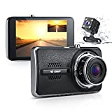 Car Dash Camera, Yimaler 4'' IPS Screen Dual Lens Dashcam FHD 1080P Dashboard Camera 170 Degree Wide Angle in Car Built in G-Sensor Parking Monitor WDR Loop Recording Motion Detection Night Vision For Sale