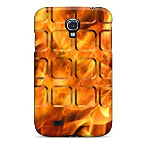 Top Quality Case Cover For Galaxy S4 Case With Nice Flame Buttons Appearance