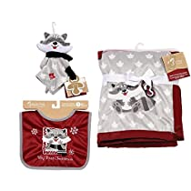 Babys First by Nemcor 3 Piece Infant Christmas Gift Set Raccoon