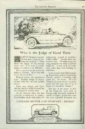 Who is the Judge of Good Taste Packard Roadster ad for sale  Delivered anywhere in USA