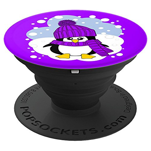 Cute Baby Penguin in the Snow Christmas Stocking Stuffer - PopSockets Grip and Stand for Phones and Tablets by Baby Penguinz