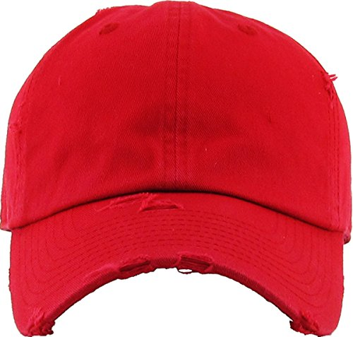 Buy distressed red cap