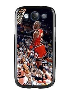 Custom Michael Jordan Black Phone Case For Samsung Galaxy S3 I9300 Cover Case
