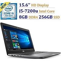 Newest Dell Inspiron 15.6 HD Truelife LED-Backlit Laptop PC, Intel Core i5-7200U Processor, 256GB SSD, 8GB DDR4 RAM, Backlit Keyboard, DVD+/-RW, Bluetooth, HDMI, Intel HD Graphics 620, Windows 10