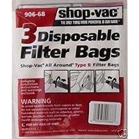 12 SHOP VAC Vacuum Bag Type-B 906-68 Genuine
