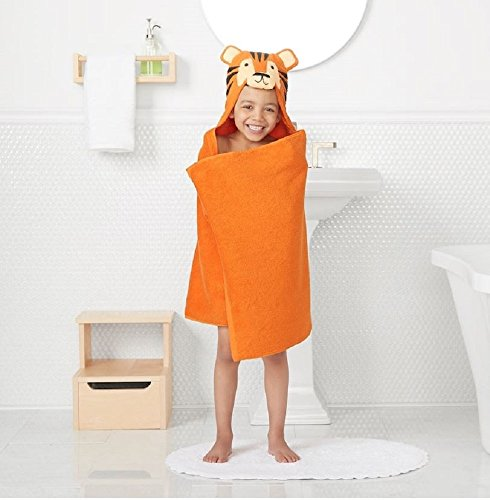 "Jumping Beans Animal Hooded Bath Towel Wrap - 25'' x 50"" (TIGER) from Jumping Beans"