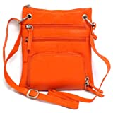 Iris Tyler Leather Sling Bag with Organizer (Orange), Bags Central