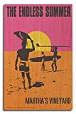 Martha's Vineyard, Massachusetts - The Endless Summer - Original Movie Poster (10x15 Wood Wall Sign, Wall Decor Ready to Hang)