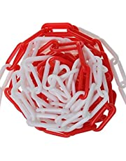 Afsluitketting 5 m rood wit kunststof ketting ketting