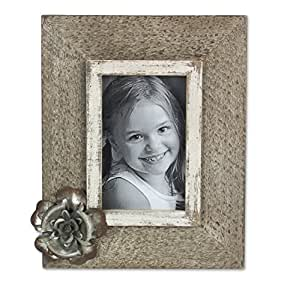 "Young's Wooden and Metal Flower Picture, 8.75"" x 1.5"" x 10.25"""